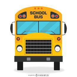 Diseño de autobús escolar aislado