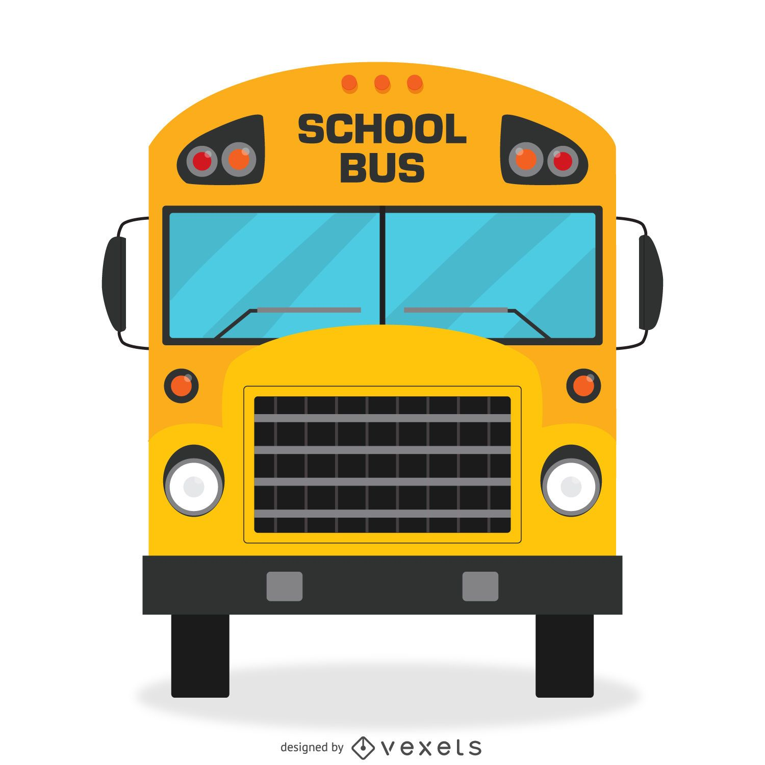 isolated school bus design vector download rh vexels com school bus vector art school bus vector free download