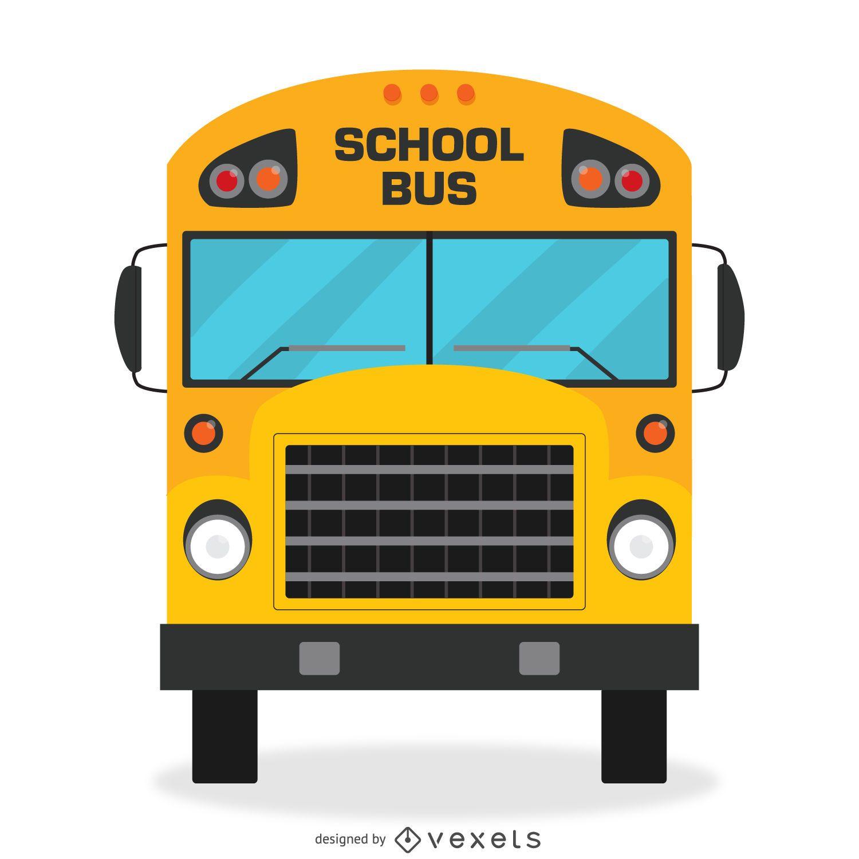 Projeto de ônibus escolar isolado