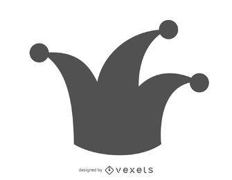 Icono de sombrero joker aislado