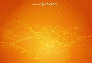 Helles gelbes grunge Hintergrunddesign