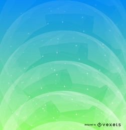 Projeto do fundo futurista verde azul