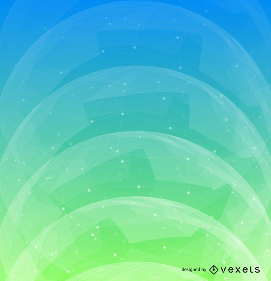 Design de fundo futurista azul verde