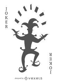 Joker card silhouette