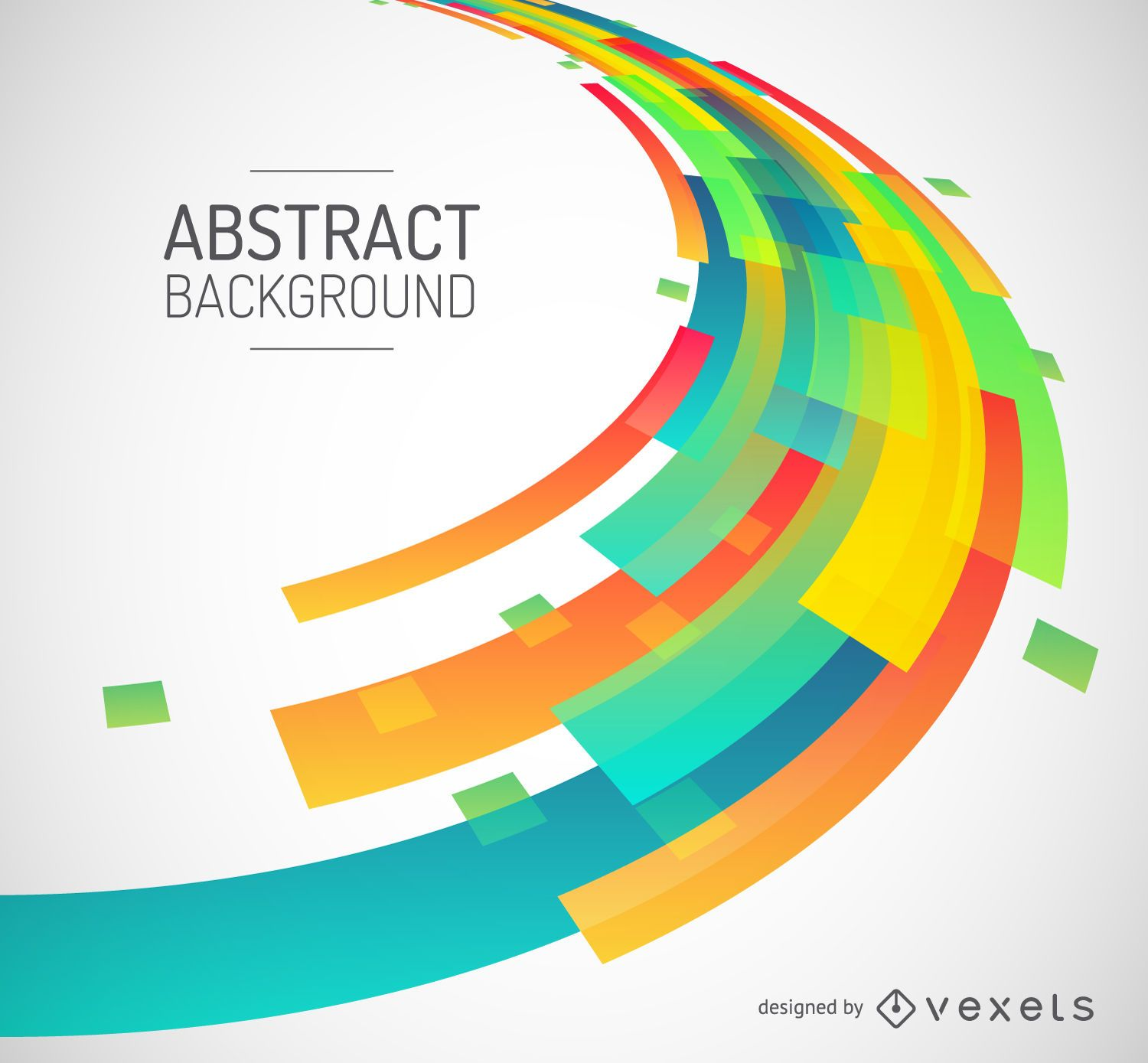 Abstract Colorful Geometric Shapes Background - Vector ...