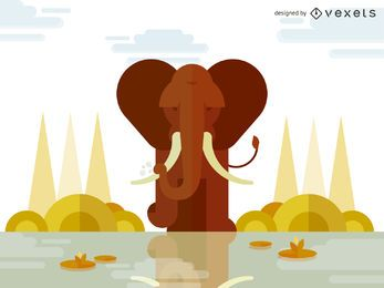 Geometric elephant illustration design