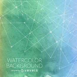 Green gradient watercolor background lines