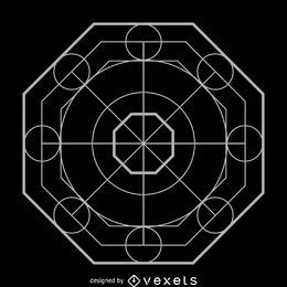 Complex octagon sacred geometry design