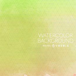 Grünes Aquarell mit Maschenhintergrund