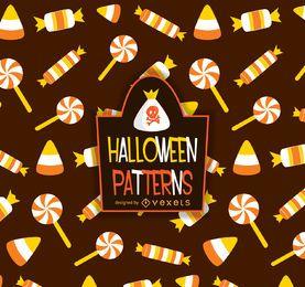 Patrón de dulces de halloween