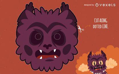 Máscara de disfraz de halloween hombre lobo