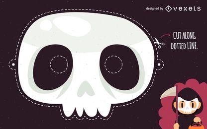 Fato de máscara de caveira de Halloween