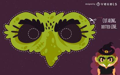Máscara de bruxa de halloween