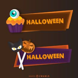 Conjunto de banner de doces de Halloween