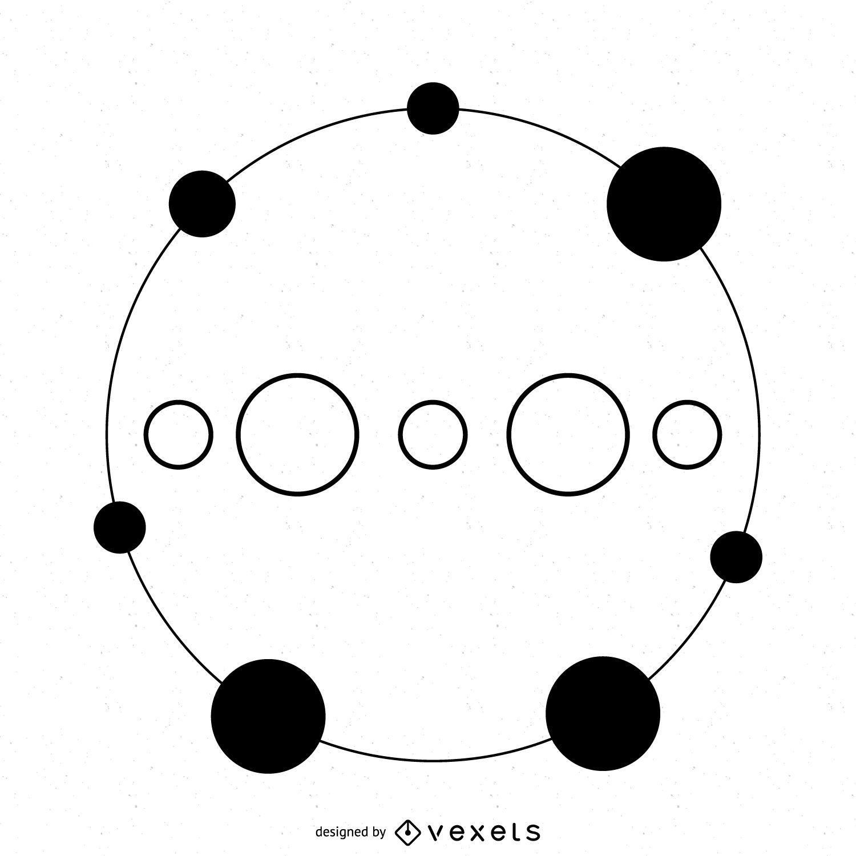 Círculo de cultivo circular punteado
