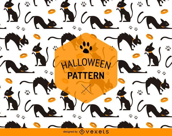 Halloween-nahtloses Katzenmuster