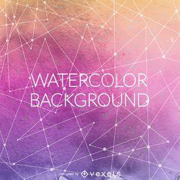 Pano de fundo aquarela gradiente roxo