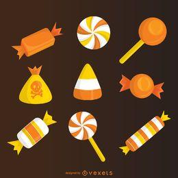 elementos milho de doces do Dia das Bruxas