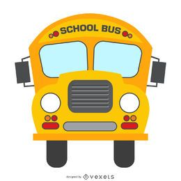 Isolated school bus cartoon