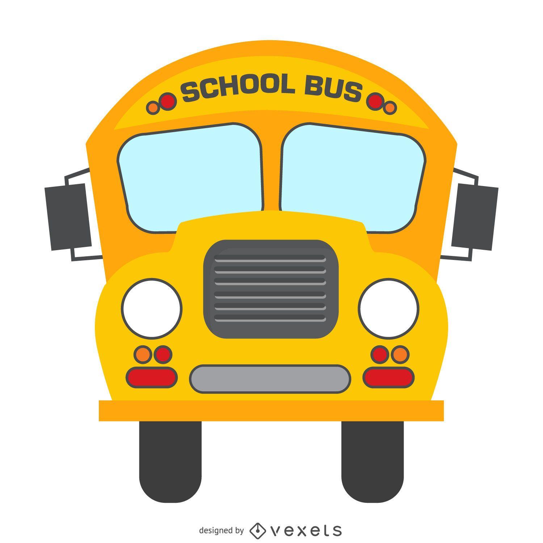 Desenho de ônibus escolar isolado