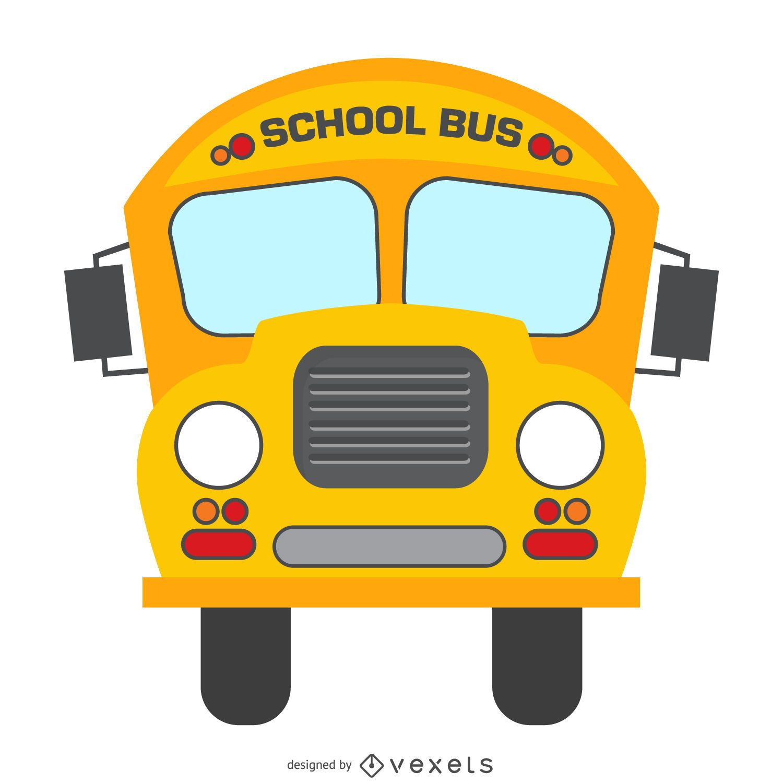 Isolated school bus cartoon