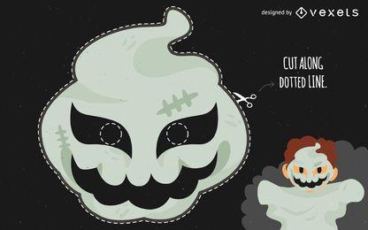 Fantasia de máscara de fantasma de Halloween