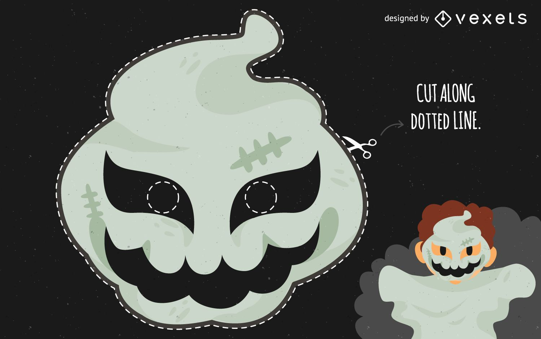 Disfraz de máscara de fantasma de Halloween