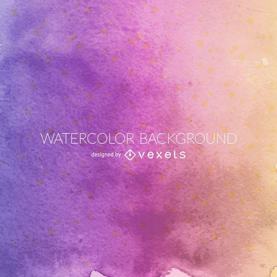 Purple orange watercolor background
