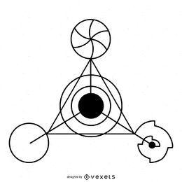 Weird triangle crop circle