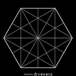 Geometría sagrada hexagonal minimalista