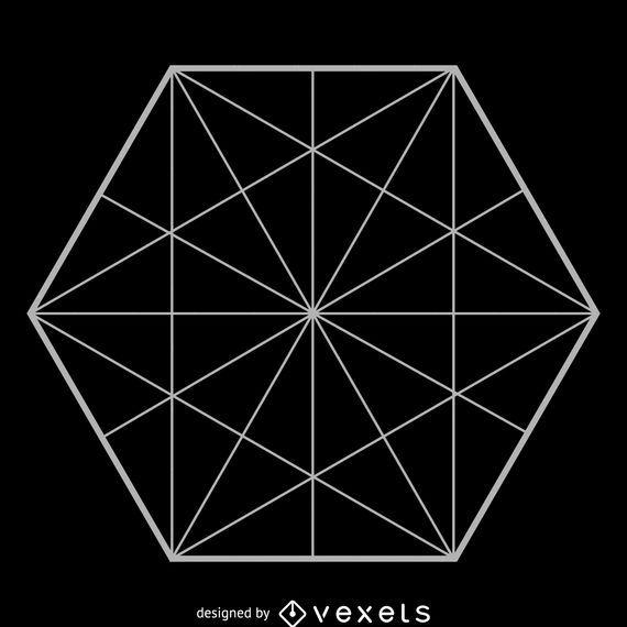 Geometria sagrada hexagonal minimalista