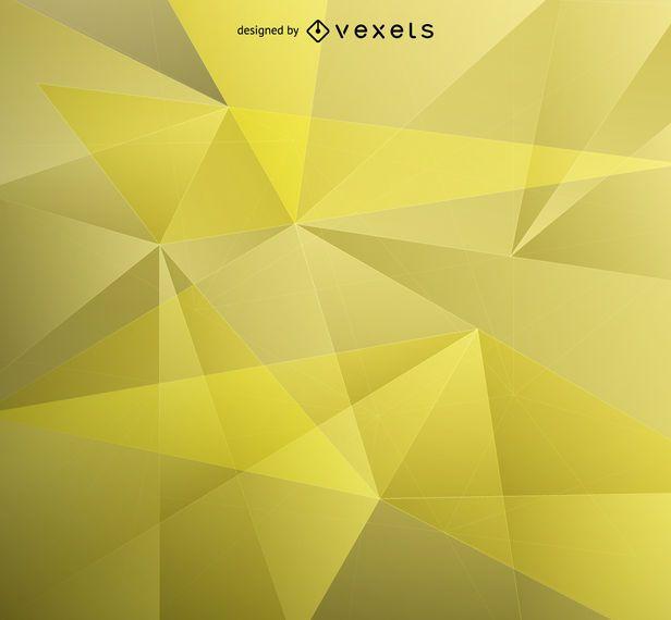 Fondo amarillo bajo poli