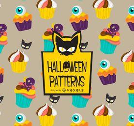Patrón de cupcakes de Halloween