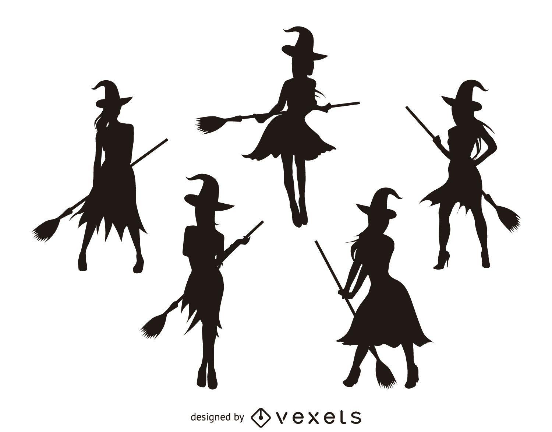 siluetas de brujas aisladas descargar vector halloween witch clip art witch smoking joint halloween witch clip art witch smoking joint