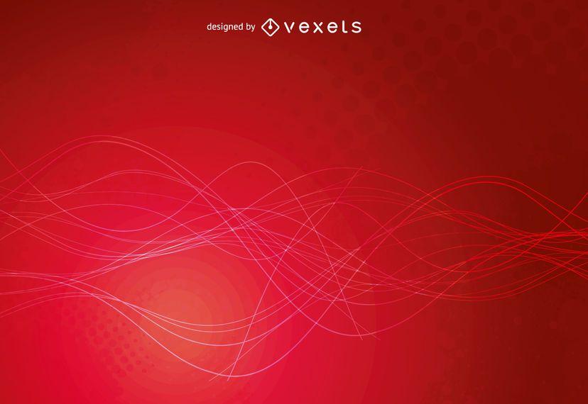 Design de pano de fundo vermelho brilhante grunge