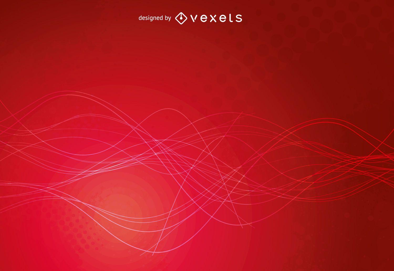 Diseño de fondo grunge rojo brillante