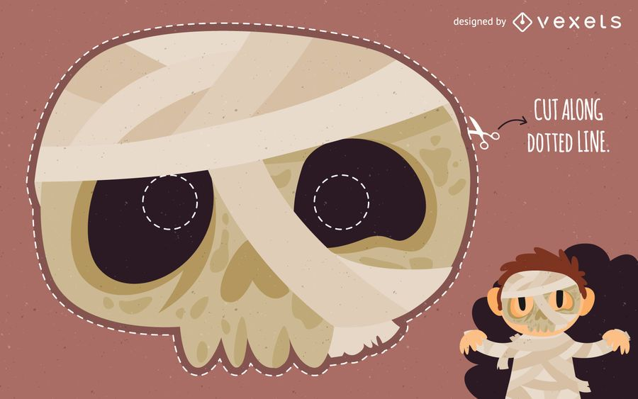Disfraz de mascara de momia de halloween