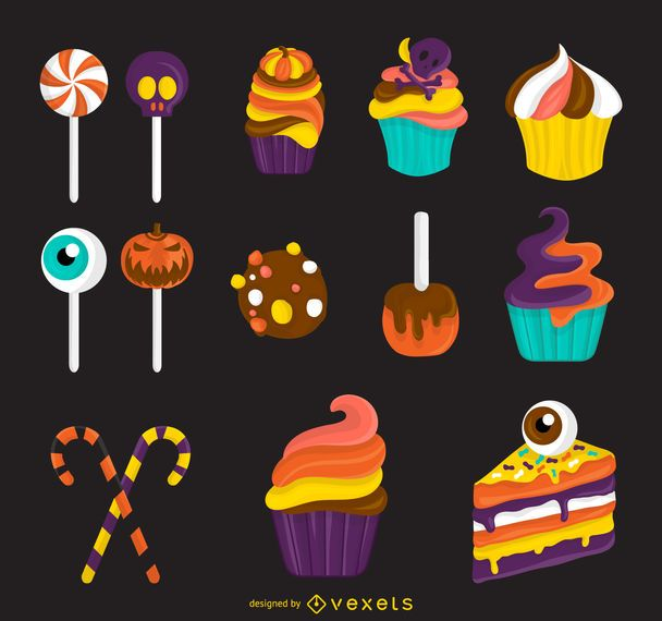 Halloween candy treats illustration