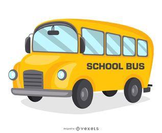 Diseño de dibujos animados de autobús escolar
