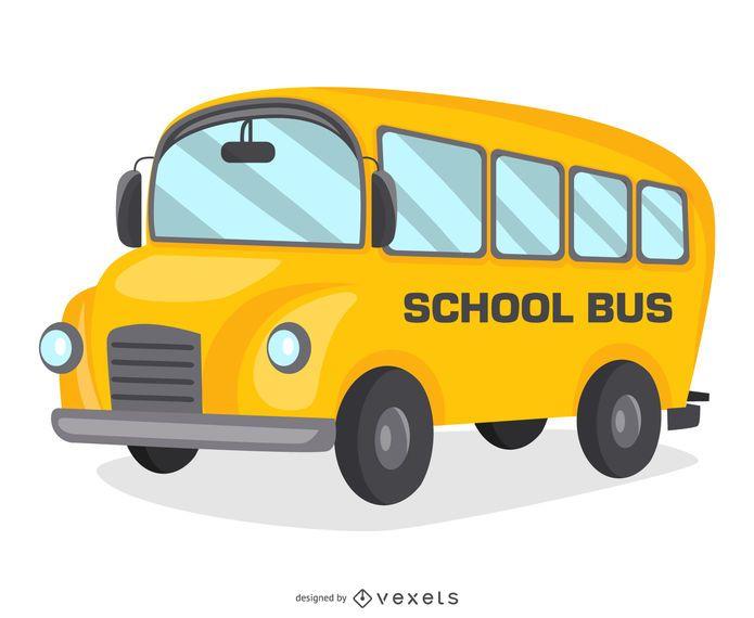 Projeto de desenho de ônibus escolar