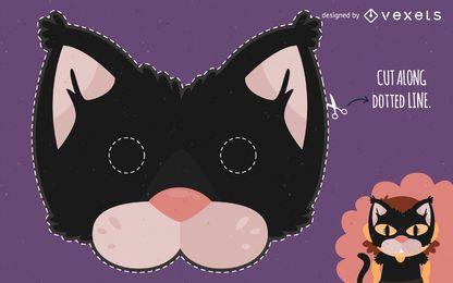 máscara de Halloween chico gato