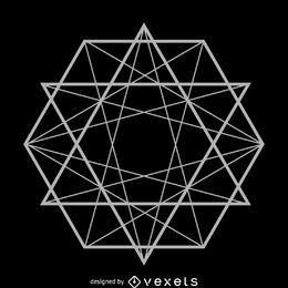 hexágono líneas de geometría sagrada