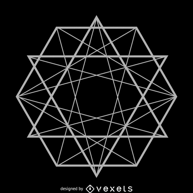 Hexagon lines sacred geometry
