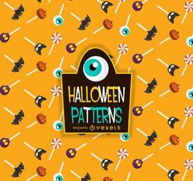 Padrão de pirulito de doces de Halloween
