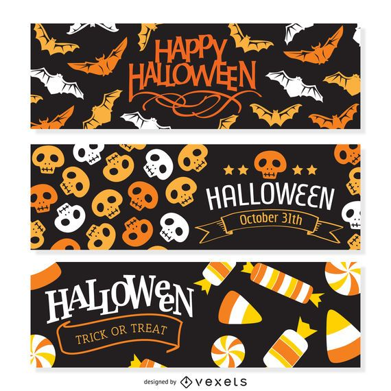 2 Halloween party banner