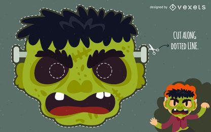 máscara de monstro de Frankenstein o Dia das Bruxas