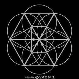 Heilige Geometrie der geometrischen Blume