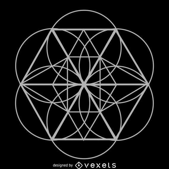 geometric flower sacred geometry vector download