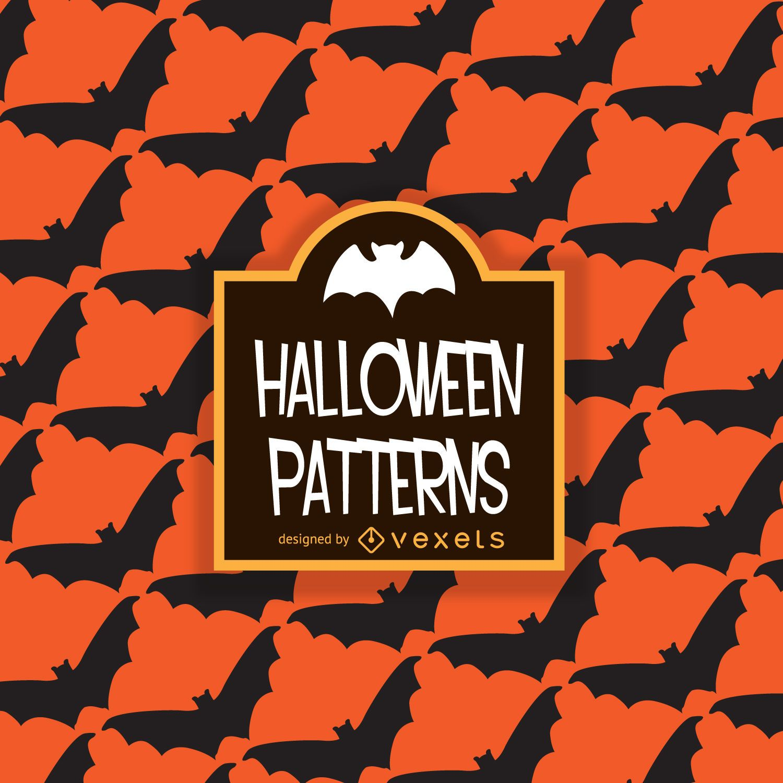 Patrón de murciélago de Halloween