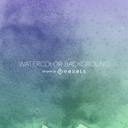 Blauer grüner Aquarellhintergrund